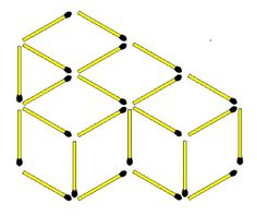 Matchstick Puzzles Reduce the cubes. There are 4 cubes in the figure above. Move only 1 matchstick to reduce the number of cubes to Do not leave unnecessary matches in the figure. Number Puzzles, Maths Puzzles, Cubes Math, Reto Mental, Brain Busters, Logic Problems, Math Tubs, Math Challenge, Math Problem Solving