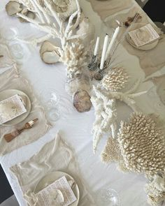 beach table setting coastal entertaining
