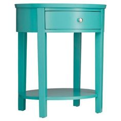 Weston Home Oval Accent Table Marine Green - E565A-MG(3A)