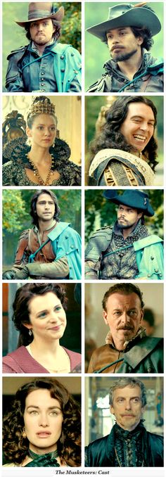 Cast of musketeers