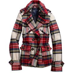 A tartan jacket for the tartan girl. #teen #fashion