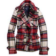A tartan jacket for the tartan girl. #teen #fashion