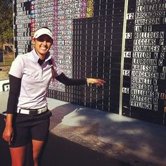 Big Smile when Paula won her tour card for 2013 :)