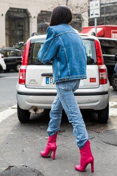 Street style à la Fashion Week automne-hiver 2017-2018 de Milan  Photo par Sandra Semburg