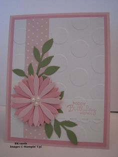 SU Petite Pairs - or other sentiment, Paper: Pretty in Pink, Pink Pirouette, Whisper White, Pear Pizzazz, Subtles DSP pack. Ink: Pretty in Pink,  Accessories: Polka Dots E F, Blossom Party Die, Little Leaves Sizzlet, Scallop Border punch