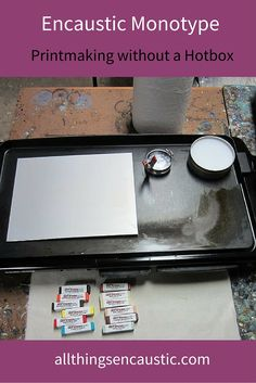 Encaustic Printmaking without a Hotbox. How to pull encaustic monoprints using a pancake griddle.
