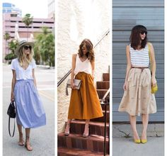 Sewing Envy # The midi skirt - # skirt .- Envie couture : La jupe midi – Sewing desire # 1 : The midi skirt – - Spring Outfits For School, Summer Outfits, Casual Outfits, Mode Outfits, Skirt Outfits, Looks Style, My Style, Look Fashion, Womens Fashion