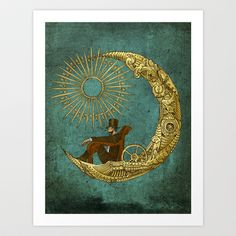 Moon Travel Art Print by Eric Fan - $18.00