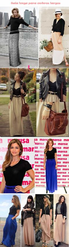 A saia longa, considerada um clássico no guarda-roupa feminino está de volta como tendência de moda primavera/verão 2014. Aprenda como usar!
