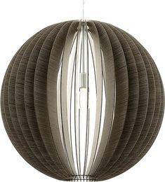 EGLO Cossano - Hanglamp - 1 Lichts - Ø700mm.  Nikkel-Mat - Donkerbruin