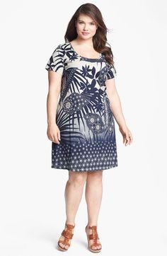 Lucky Brand Chantal Print Cotton Dress (Plus) | Nordstrom