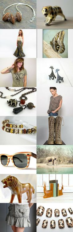 The Jungle Collection by Adrienne Zavalick on Etsy--Pinned with TreasuryPin.com
