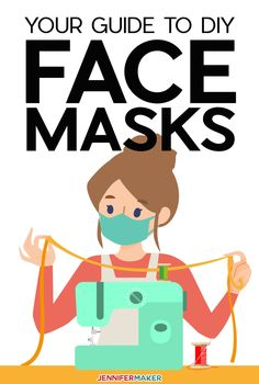 Answers to all of your questions about making DIY face masks from cloth fabric, including free patterns, recommended materials, how to wear one, and care instructions. Free tutorials to help you make your own homemade face mask quickly and easily. Face Scrub Homemade, Homemade Face Masks, Easy Face Masks, Diy Face Mask, Diy Projects To Try, Sewing Projects, Craft Projects, Diy Mask, Couture