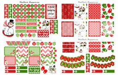 DECEMBER -------------------------December Planner Stickers Erin Condren by MailboxHappiness on Etsy