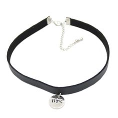 1 piece Gothic Punk Black BTS Leather Choker Necklace KPOP Bangtan Boys Collar Collette Necklace Jewelry * Click image to review more details.
