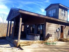 ~*~ 2/2 Cabin @ 2800 elev., nice Shop, 2 porches with V I E W S !! ...1.94 ac., private, not far to town. Sold furnished. Indoor & outdoor FP's! Detached Shop. Unique tower sleeping loft. Immaculate, move in ready, Sylva, NC.   www.donnalaconte.kwrealty.com  #ImYourREALTOR  #RealEstate #SmokyMountains  #Cabin #DreamHome  #WCU #ProveYourPurple #Whee