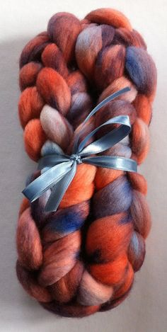 Wild Weather Merino Spinning fiber by Ulljente on Etsy Wild Weather, Spinning, Red And Blue, Fiber, Hand Painted, Wool, Etsy, Hand Spinning, Indoor Cycling