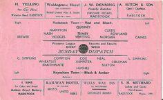 1950's Radstock Town v Keynsham Town Somerset SNR Cup