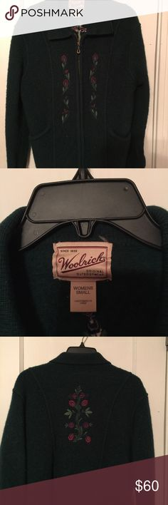 Vintage Woolrich ladies jacket size small Vintage Woolrich ladies jacket size small 100% wool with nice embroidery EUC Woolrich Jackets & Coats