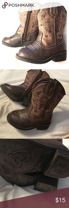Toddler girl cowboy boots Size 5 toddler girl cowboy boots Cherokee brand . Cherokee Shoes Boots