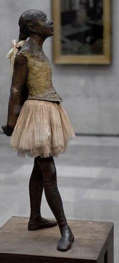 Admiring 'The Little Dancer' by Edgar Degas at the Musée d'Orsay in Paris ~ Ana Menendez