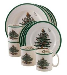 Spode Christmas Tree 12 Piece Dinnerware Set Service For 4 Porcelain Seasonal