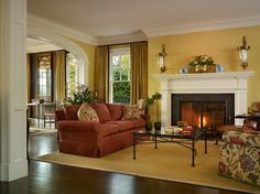 Henry House - traditional - living room - seattle - Charter Construction