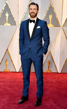 Actor Chris Evans at the Academy Awards 2017: Celeb Red Carpet Arrivals