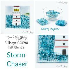 STORM CHASER CoE90 Bullseye Glass Frit by BlueFairyGlassSupply