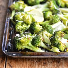 Roasted Broccoli with Garlic, Parmesan and Lemon thanksgiving