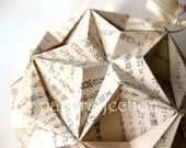 Japanese Stars Origami Ornament - Upcycled