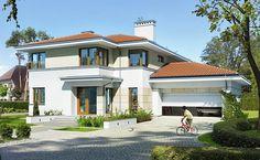 Z Klasą 1 - wizualizacja 1 - Projekt nowoczesnego domu piętrowego z antresolą i garażem dwustanowiskowym