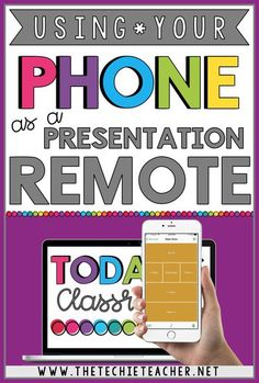 How to Use Your Phone as a Presentation Remote. Control your Google Slides™ presentation, PowerPoint presentation, Prezi presentation, etc. straight from your phone! Great for your Meet the Teacher Night. Teaching Technology, Technology Integration, Educational Technology, Technology Tools, Instructional Technology, Educational Websites, Google Classroom, School Classroom, Apps For The Classroom