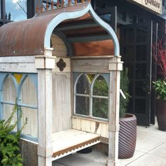 Lovely outdoor covered bench spotted at Ravenna's in Seattle.