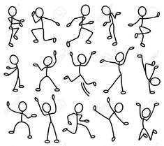 Because stick people are fun to draw.Movement In Art Clipart - ClipartFox Doodle Drawings, Easy Drawings, Doodle Art, Doodle Sketch, Drawing For Kids, Art For Kids, Stick Figure Drawing, Sketch Notes, Art Clipart