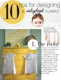 10 Tips for designing a Delightful Nursery, House of Fifty mag