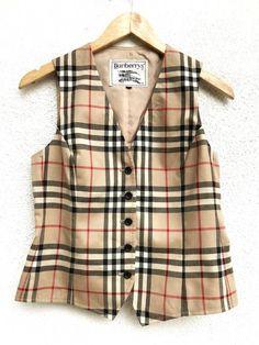 "Burberry Vintage Burberry's Nova Check Plaid Tartan Wool Button Vest Made In Japan Armpit 17.5""x20"" Size 38s - Vests for Sale - Grailed"