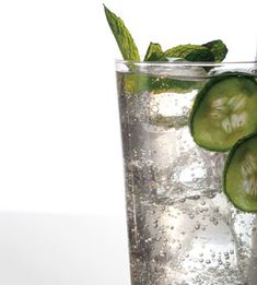 Cucumber, Mint, and Basil Soda ~ OMG this sounds yummy