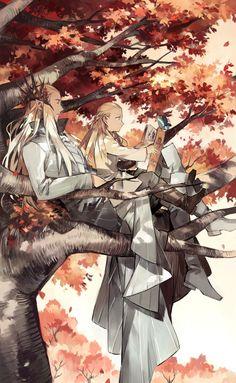 Thranduil y Legolas