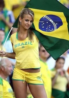 Brazilian Woman with Brazil Flag at World Cup Soccer.jpg