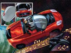Elon Musk jako hlavní hrdina nového komiksu. Nechybí Tesla ani SpaceX Tesla Roadster, Tesla Motors, Automobile, Super Cars, Elon Musk, Astronaut Suit, Beach Towel, Adventure, Car