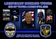 IN MEMORIAM: LIEUTENANT RICHARD WOODS Lieutenant Richard Woods suffered a fatal heat attack while assisting other rescue personnel extricate several teenagers from a vehicle following a serious accident on Cogswell Avenue, at 5th Street, at approximately 4:30 pm. Paramedics immediately began to render aid to Lieutenant Woods. He was transported to a local hospital where he passed away a short time later. Lieutenant Woods is survived by his wife and two sons. Lieutenant Richard Woods-gone, but ne Pell City, Officer Down, Local Hero, Fallen Heroes, Pray For Us, Thin Blue Lines, Law Enforcement, Good People, Firefighter