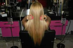 straight hair with color