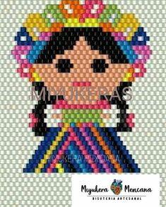 Beaded Earrings Patterns, Beading Patterns, Cross Stitch Embroidery, Cross Stitch Patterns, Stitch Character, Iron Beads, Brick Stitch, Loom Beading, Hama Beads