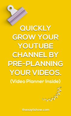 Grow your YouTube Channel by Pre-Planning Your Videos. — The XayLi Show
