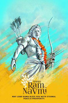 Let's celebrate our ancient tradition of oneness, brotherhood, bravery and shun violence this Ram Navami Happy Ram Navami. Creative Poster Design, Creative Posters, Cool Posters, Ram Navami Images, Ram Photos, Hindu Festivals, Indian Festivals, Shri Ram Photo, Ram Navmi