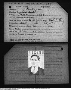 Merchant Navy card for Leonard Goodyear