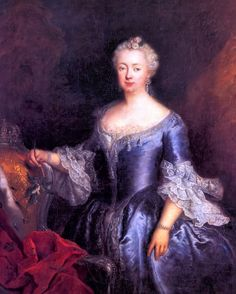 1750s (early) Elisabeth Christine of Prussia, nee Braunschweig Bevern by Antoine Pesne | Grand Ladies | gogm