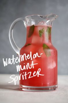 watermelon mint spritzer