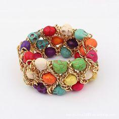 colorful bracelets | Fashion Bracelets - Colorful skull bracelet